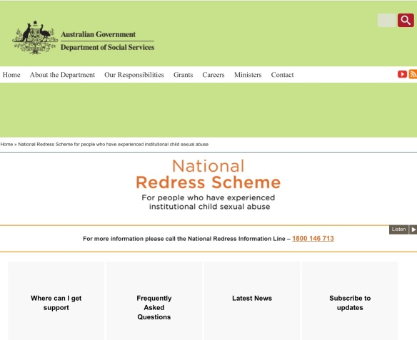 National Redress Scheme for people who have experienced institutional child sexual abuse | Department of Social Services, Australian Government